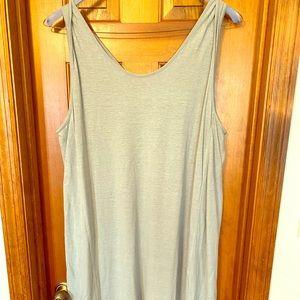 Linen mid-calf dress